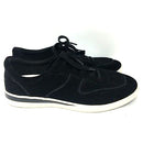 ED Ellen DeGeneres Suede Lace-up Sneakers - Akemi Black - NEW