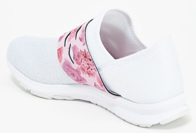 New Balance x Isaac Mizrahi Live! Mesh Slip-on Sneakers 300 White/Rose - NEW