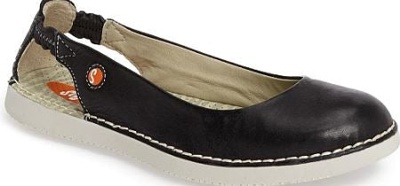 Softinos by FLY London Leather Slip-on Shoes Black - NEW