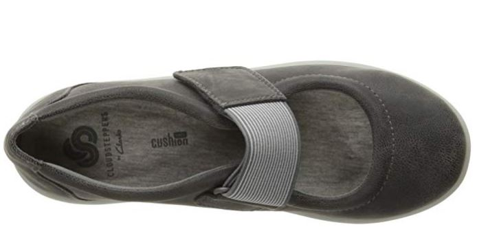 CLOUDSTEPPERS by Clarks Adjustable Mary Janes Sillian Cala Dark Grey - A