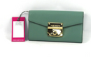 Vince Camuto Women's Gorgeous Friar Leather Wallet Light Sea Green NWT - NEW