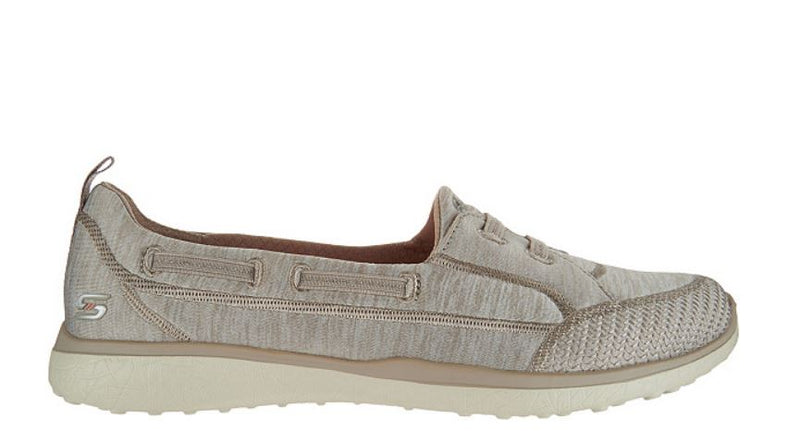 Skechers Microburst Bungee Slip-On Sneakers Topnotch Taupe - NEW
