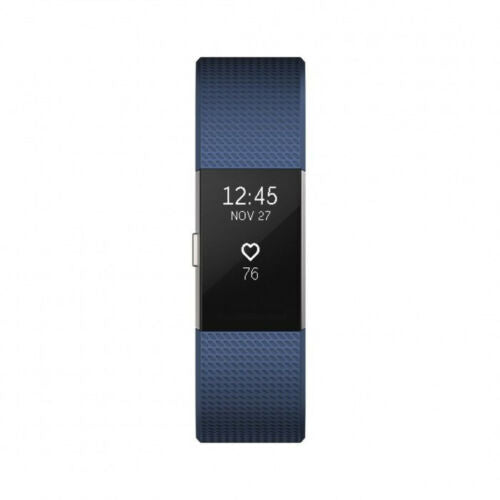 Fitbit Charge 2 FB407SBUL Heart Rate Fitness Activity Tracker Blue - A