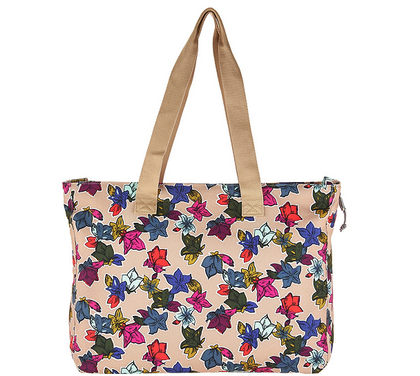 Vera Bradley Lighten Up Expandable Tote with ID Case Fall Flower - A