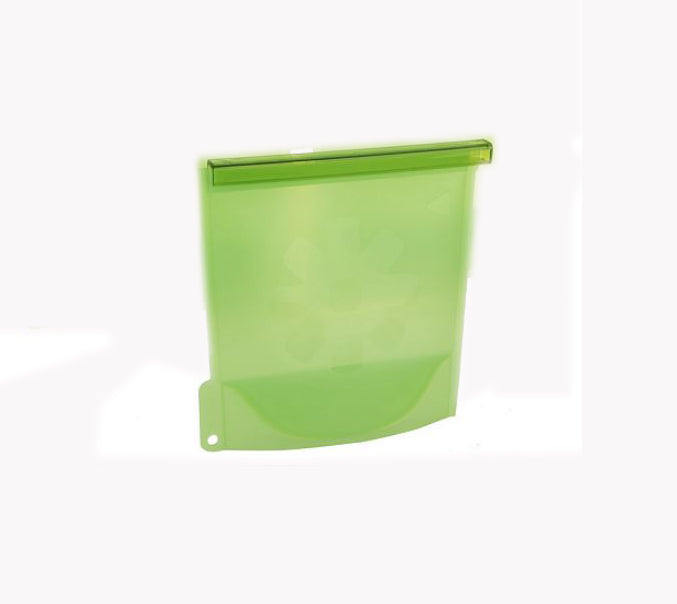 Cook's Essentials Silicone Steam & Store Food Bags Green -Set of 5 - NEW