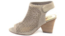 Vince Camuto Perforated Leather Peep- Toe Sandals Dastana Grey - A