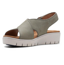 Clarks Unstructured Leather Cross Strap Sandals Un Karley Sun Sage - NEW