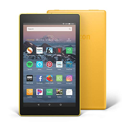 "Amazon Fire HD L5S83A 8"" (8th Gen) 16GB Quad-Core Wifi Tablet Yellow - B"