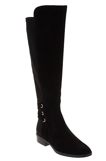 Vince Camuto Wide Calf Suede Tall Shaft Boots Black  - NEW