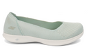 Skechers GO STEP Lite Knit Ballet Slip On Shoes Blue Star Light Green - A
