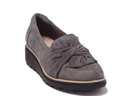 Clarks Collection Suede Slip-On Loafer Sharon Dasher Grey - A