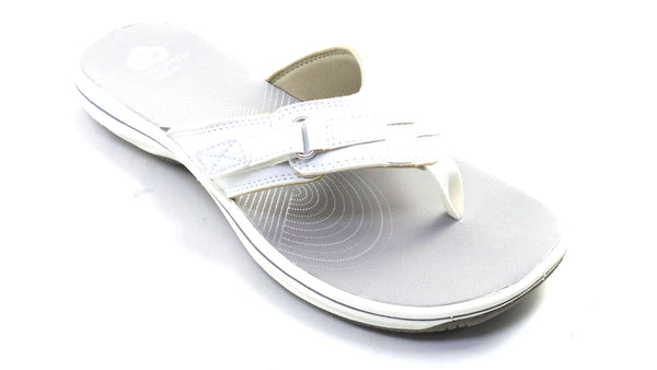 CLOUDSTEPPERS by Clarks Sport Thong Sandals - Breeze Sea White - NEW