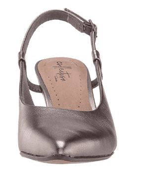 Clarks Collection Leather Slingback Pumps Linvale Loop Pewter - A