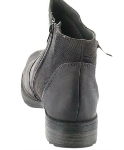 Earth Vintage Leather Side Zip Ankle Boots Jordan Dark Grey - A