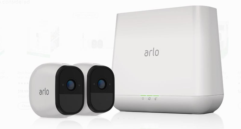 Arlo Pro VMS4230-100NAS 2 Wireless Cameras, 720p Security System White - B