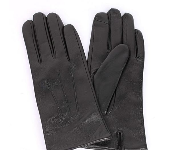 Karla Hanson Women's Leather Touch Screen Gloves Black - NEW