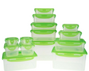 LocknLock 14pc Nestable Storage Set with 3 Handled Lids Apple - A