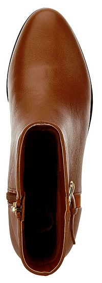 C. Wonder Tumbled Leather Mid-Calf Boots with Buckle Alexis Cognac - NEW
