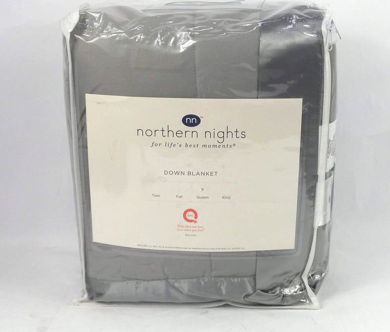 Northern Nights 400TC Cotton European 600 Fill Power Blanket Grey - NEW
