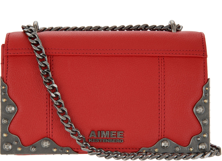 Aimee Kestenberg Convertible Shoulder Bag Bowie Cherry Red - NEW