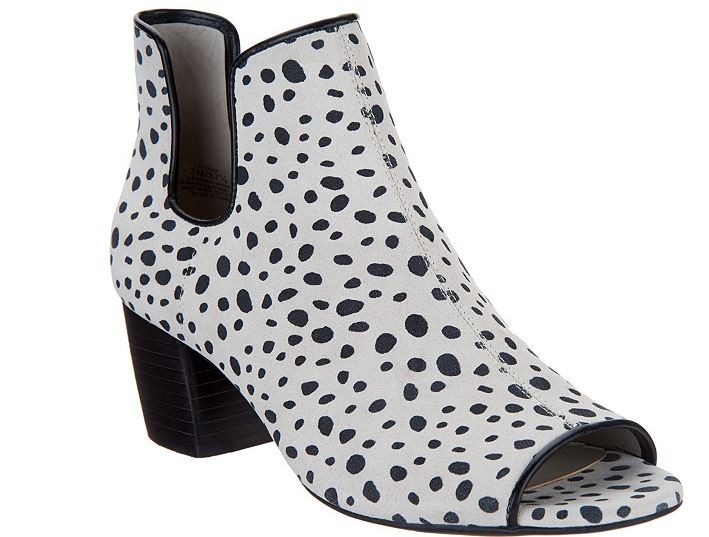 Lori Goldstein Collection Peep Toe Booties Leopard - NEW