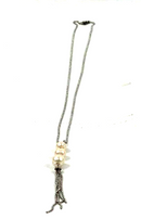 "Honora Cultured Pearl Graduated Stainless Steel 24"" Tassel Neck White - A"