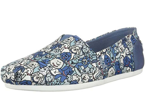 Skechers BOB's Slip On Shoes Woof Party Blue Multi - NEW