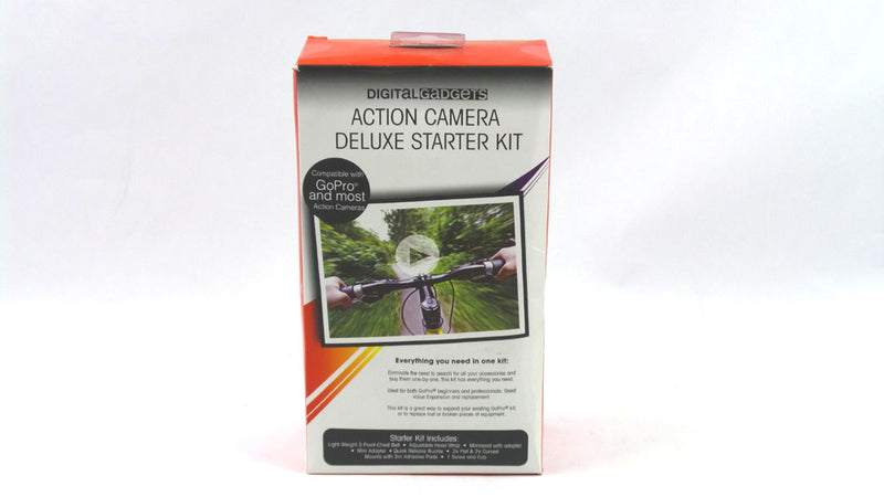 Digital Gadgets DACU7DK02-R Action Camera Deluxe Starter Kit  - NEW