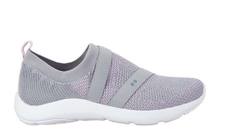 Ryka Stretch Knit Slip-On Shoes Ethereal Grey - A