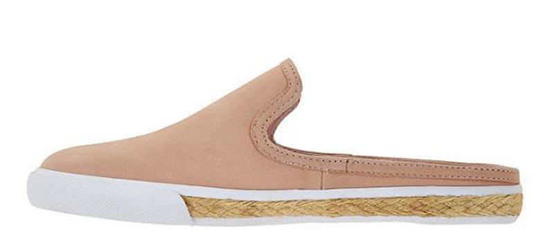 Isaac Mizrahi Live Suede Slide Sneakers Blush - NEW