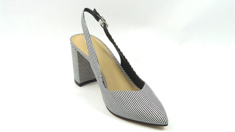 Marc Fisher Pointy Toe Slingback Pumps Catling Black/White - NEW