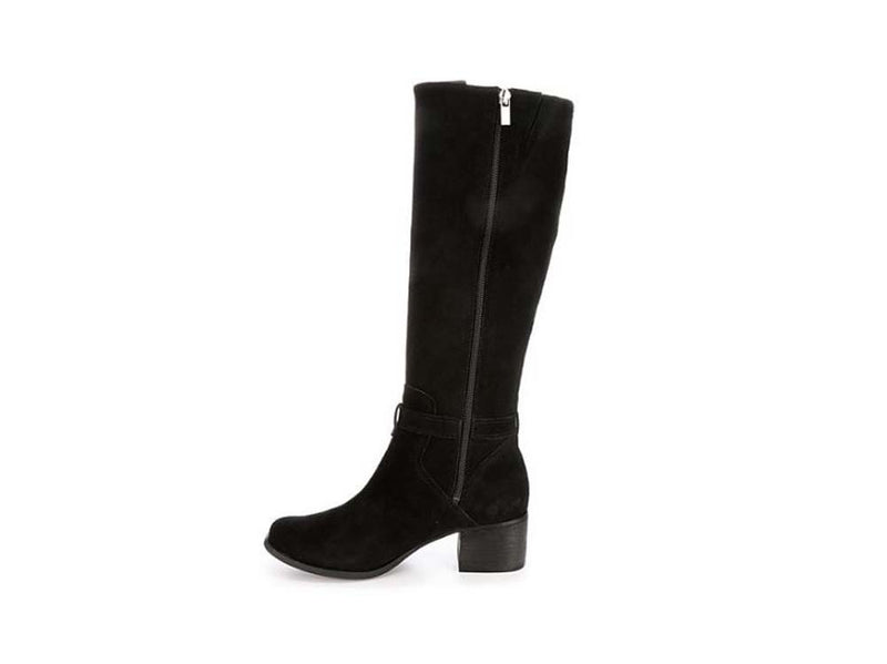 Koolaburra by UGG Suede Tall Shaft Boots Madeley Black - NEW