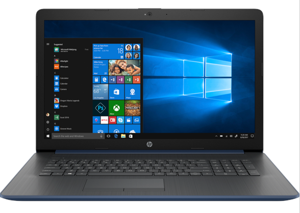 HP Notebook 17-BY0004CY 17in Touch Intel I3-8130U 8GB 1TB WIN10 Blue - NEW