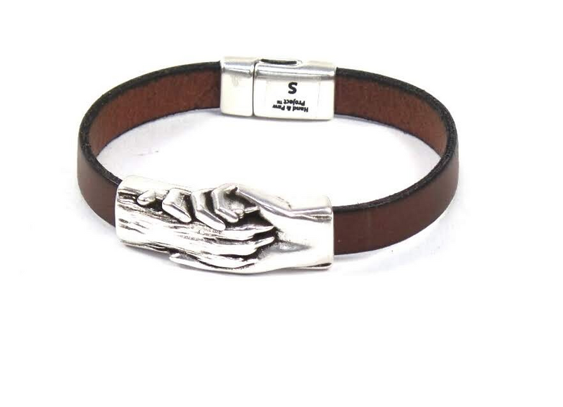 Hand & Paw Project Flat Leather Bracelet Cognac - A