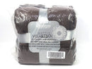 "Set of 2 Berkshire 50""x70"" Velvet Soft Waffle Burnout Throws Chocolate - NEW"