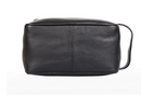 Karla Hanson Roger Leather Toiletry Organizer Bag Black - NEW
