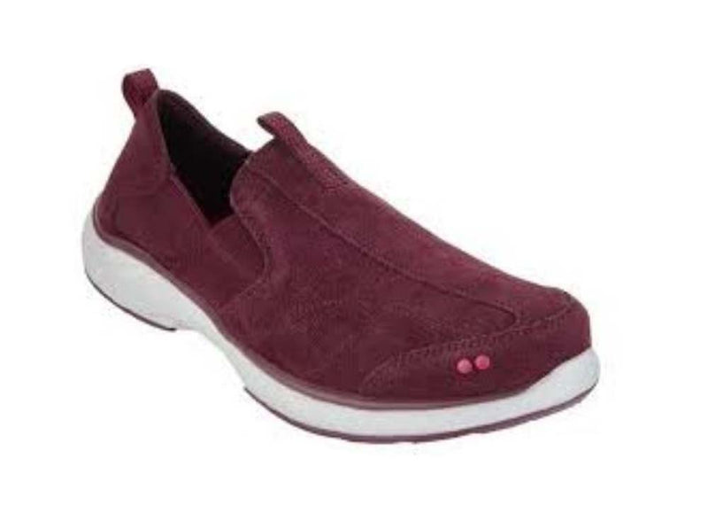 Ryka Suede Slip-on Shoes Terrie Wine - A