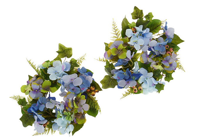 Hydrangea and Berry Set of 2 Rings by Valerie - A