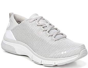Ryka Mesh Lace-Up Walking Sneakers Rythma Vapor Grey - NEW