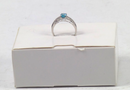 Blue or Rose Zircon & Diamond Ring 14K Gold 1.75 ct Blue size 10 - NEW