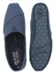 Skechers BOBs Canvas Slip-On Shoes Plush Peace & Love Navy - NEW