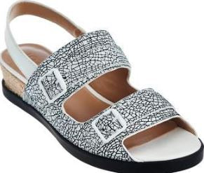 LOGO by Lori Goldstein Slingback Color-Block Espadrilles White - NEW