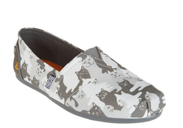 Skechers BOBS Slip-On Shoes Cat-mouflage Grey - A