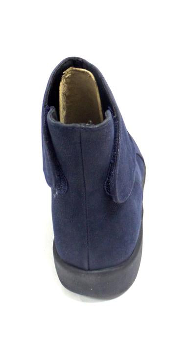 Cloudsteppers by Clarks Ruched Ankle Boots Women's Shoes Sillian Sway Navy - NEW