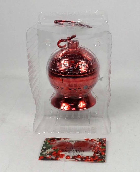 HomeWorx by Harry Slatkin TreeWorx Ornament Ball w/4 Gelables Red - NEW