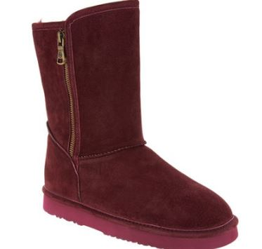 Lamo Water and Stain Resistant Suede Boots Juniper Burgundy - NEW
