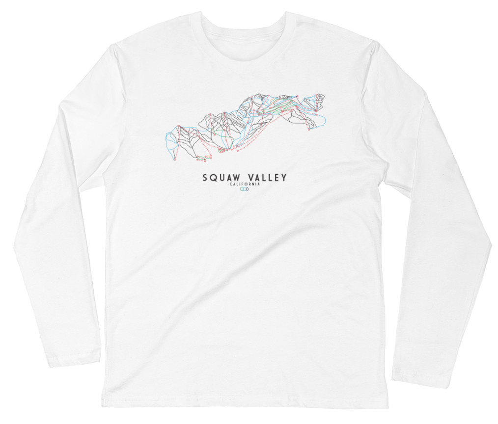 Squaw Valley Trail Map | T-shirt