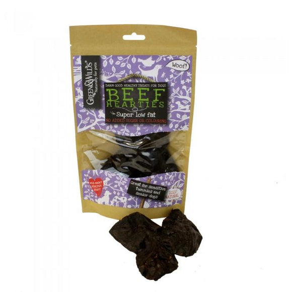 Friandise pour chien coeur de boeuf  'Beef hearties' Green & Wilds