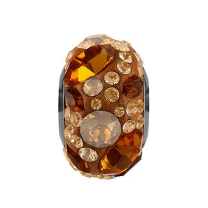5141587 - BECHARMED CRYSTAL TOPAZ / SMOKED TOPAZ / LIGHT PEACH  / SHINNY CURRY SWAROVSKI - METAL RODINADO