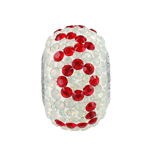 5161250 - BECHARMED CRYSTAL WHITE / LIGHT SIAM SWAROVSKI - METAL RODINADO